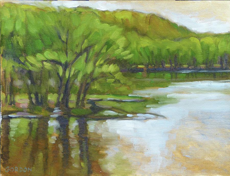 Landscape Painting - St. Croix, Spring Flood by Kim Gordon