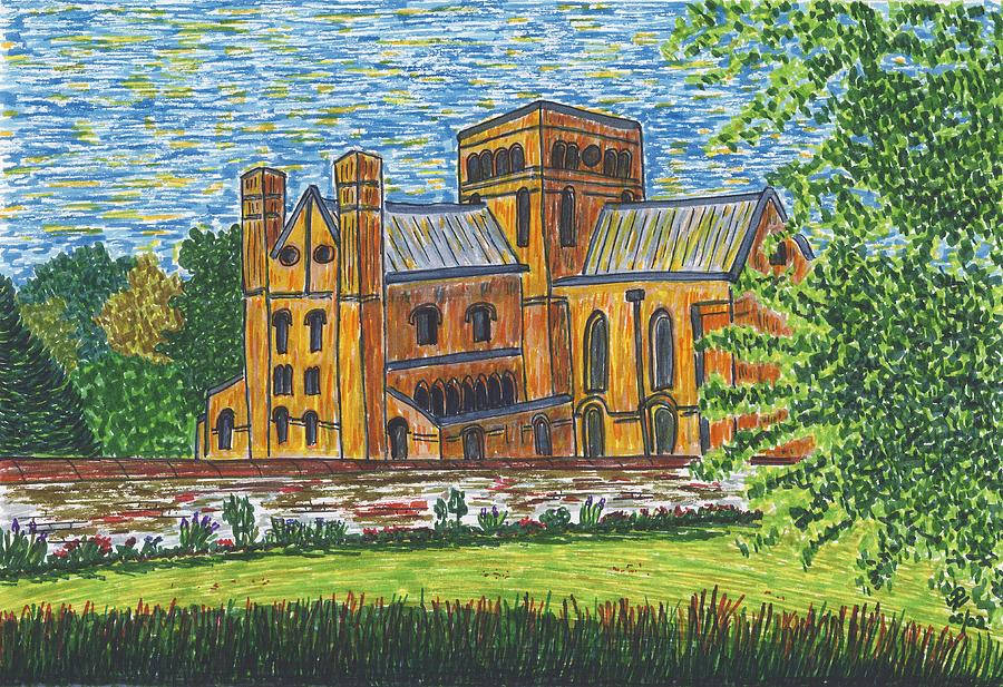 St Cross Church Winchester Painting by Pat Walden