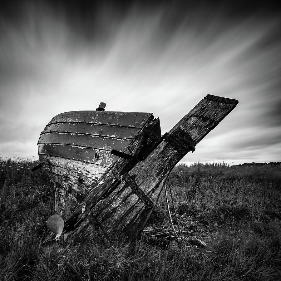Fishing Boat Photograph - St Cyrus Wreck by Dave Bowman