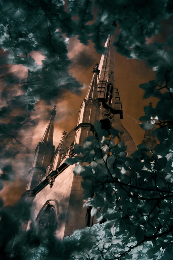 St Dunstan in the East tower by Helga Novelli