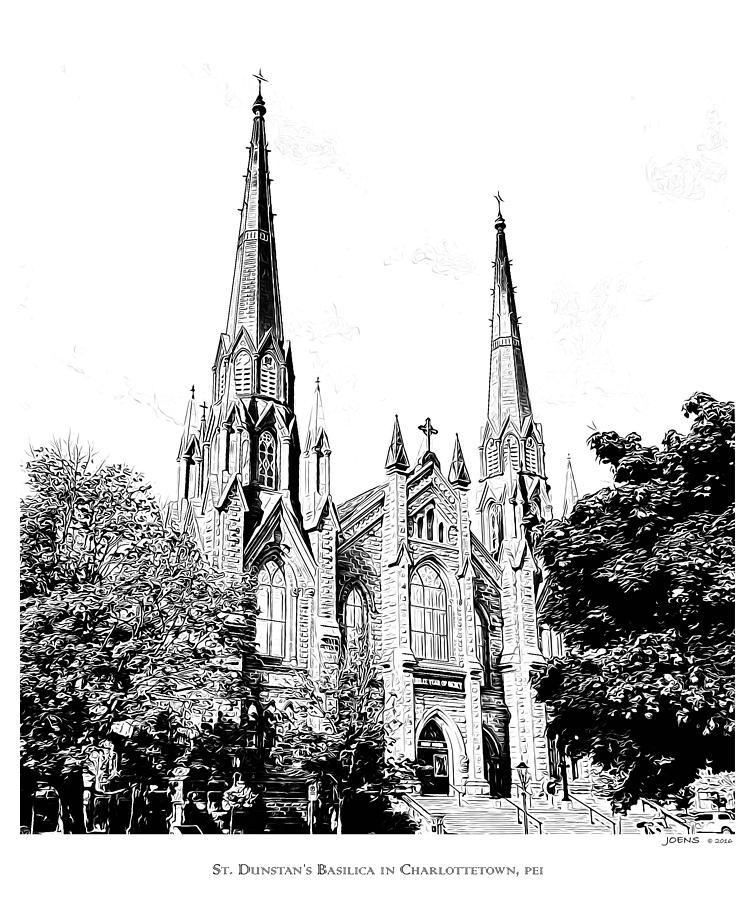 St Dunstans Basilica Mixed Media