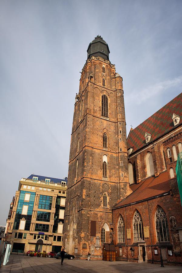 Wroclaw Photograph - St. Elizabeths Church Tower In Wroclaw by Artur Bogacki