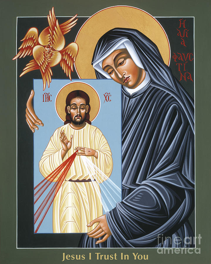 St Faustina Kowalska Apostle Of Divine Mercy 094 Painting by William Hart McNichols