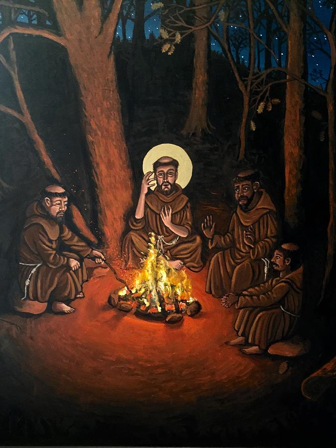 St. Francis and the Novices by Kelly Latimore