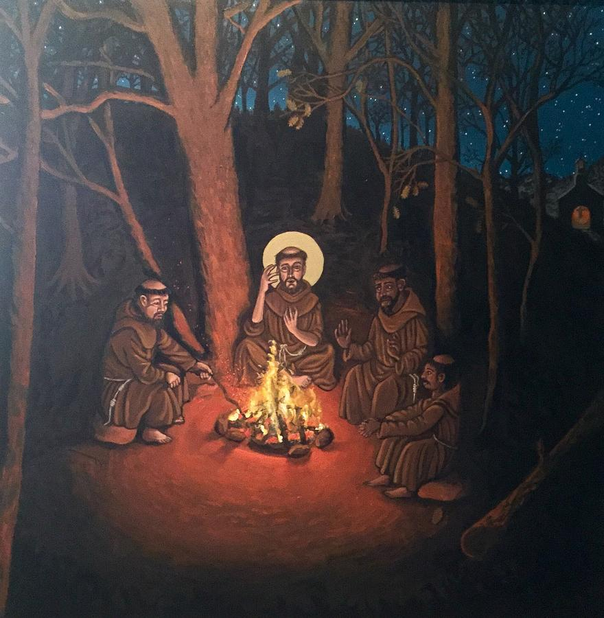St. Francis and the Novices- panorama by Kelly Latimore