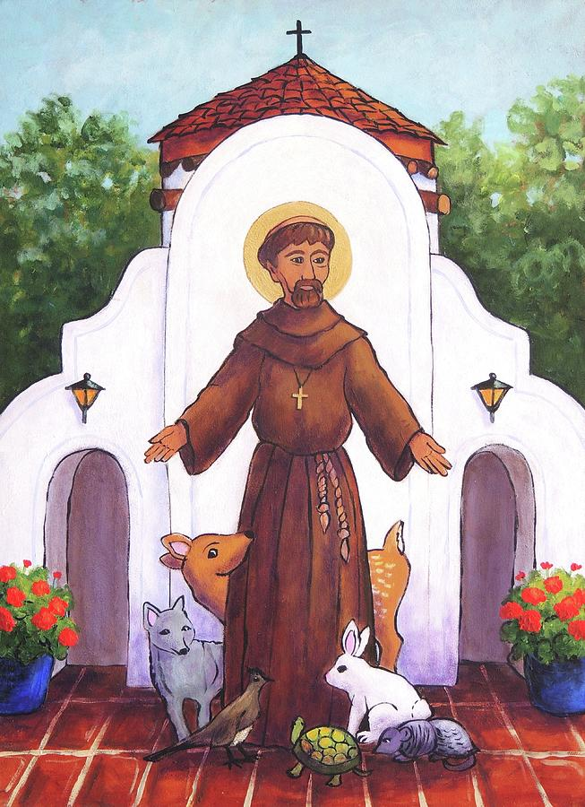 St. Francis Painting - St. Francis at Holy Cross  by Candy Mayer