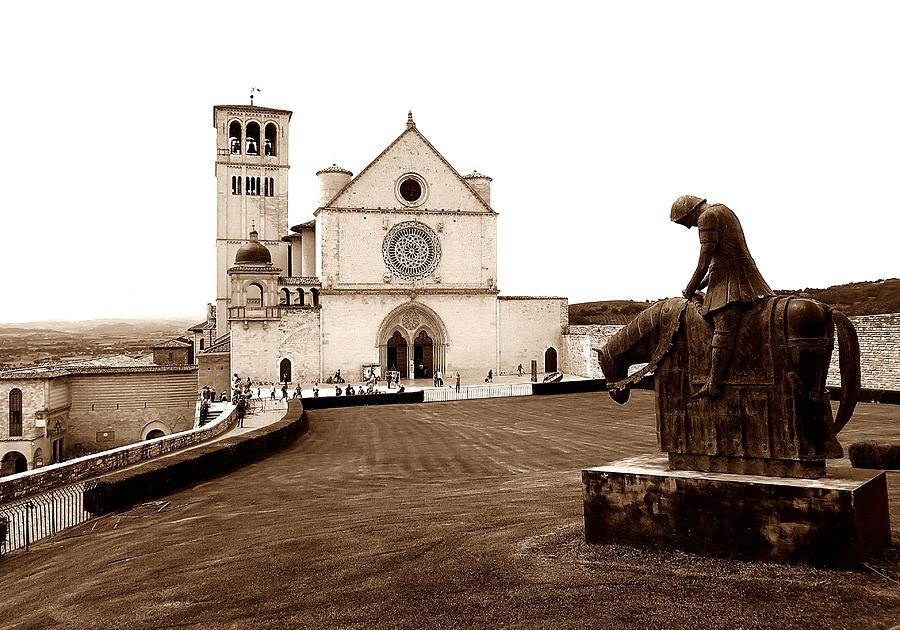 St. Francis Basilica, Assisi  Photograph by Michael Ramsey