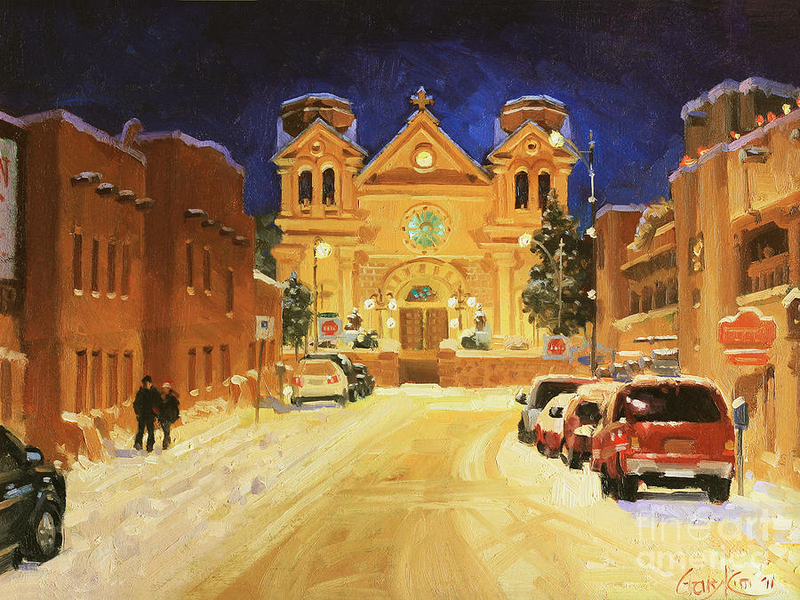 St. Francis Painting - St. Francis Cathedral Basilica  by Gary Kim