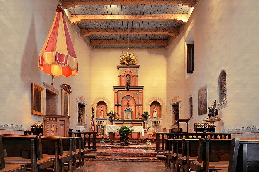 St Francis Chapel at Mission San Diego by Christine Till