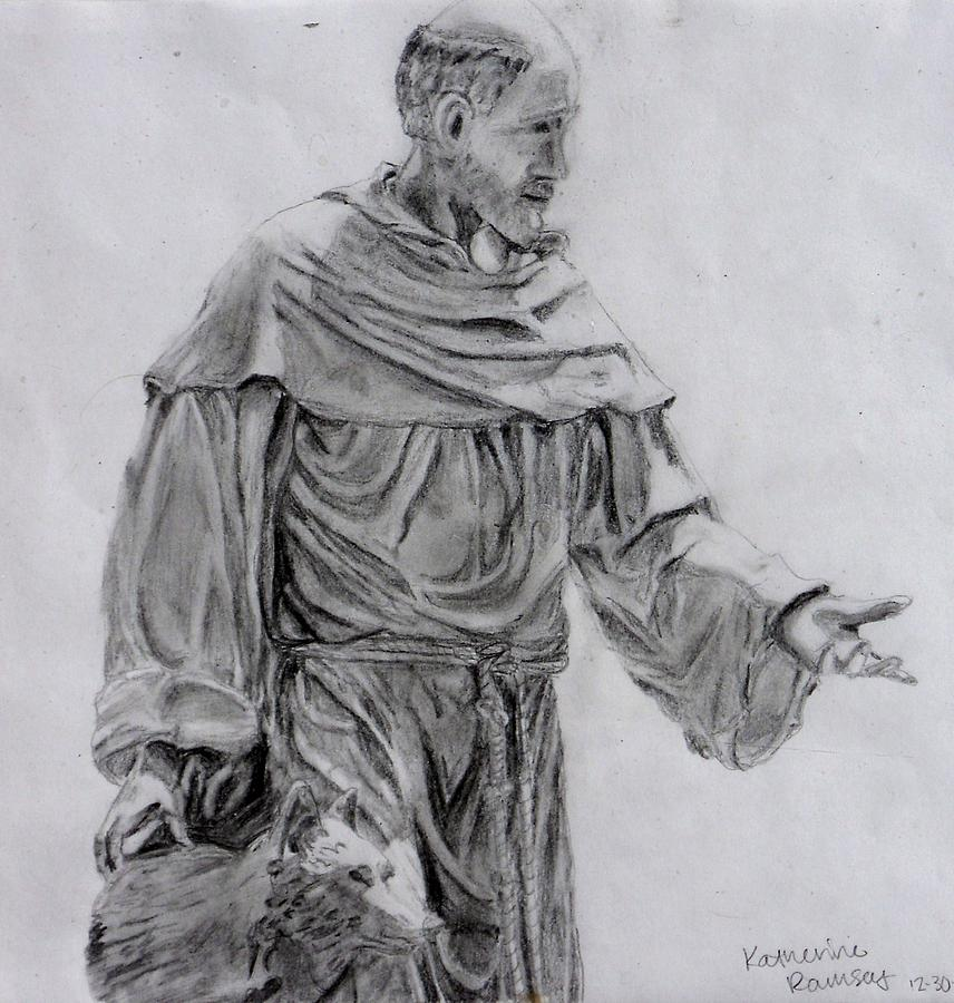 St. Francis Drawing by K Ramsey