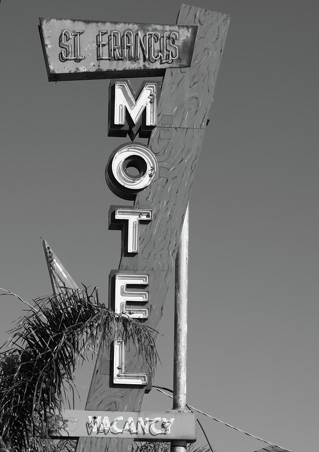 Antique Photograph - St Francis Motel Stockton Ca by Troy Montemayor