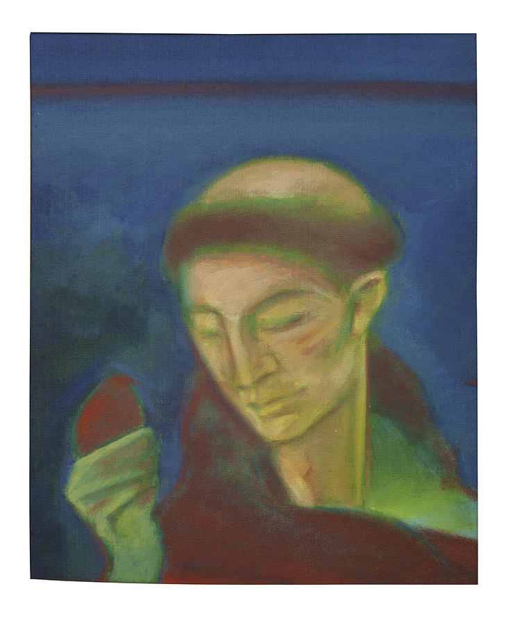 San Francisco Painting - St. Francis Of Assisi And The Bird by Rogerio Dias