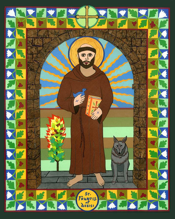 Icon Painting - St. Francis Of Assisi Icon by David Raber