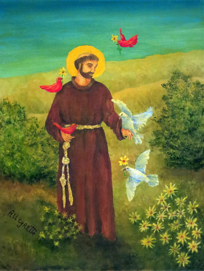Religious Painting - St. Francis Of Assisi by Pamela Allegretto