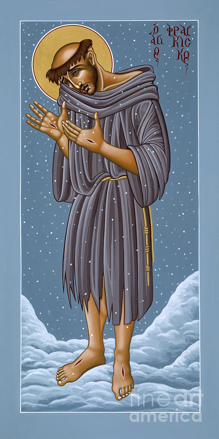 St Francis Painting - St Francis Wounded Winter Light 098 by William Hart McNichols