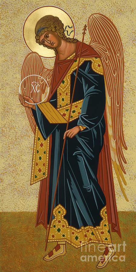 Saints Painting - St. Gabriel Archangel - Jcagb by Joan Cole