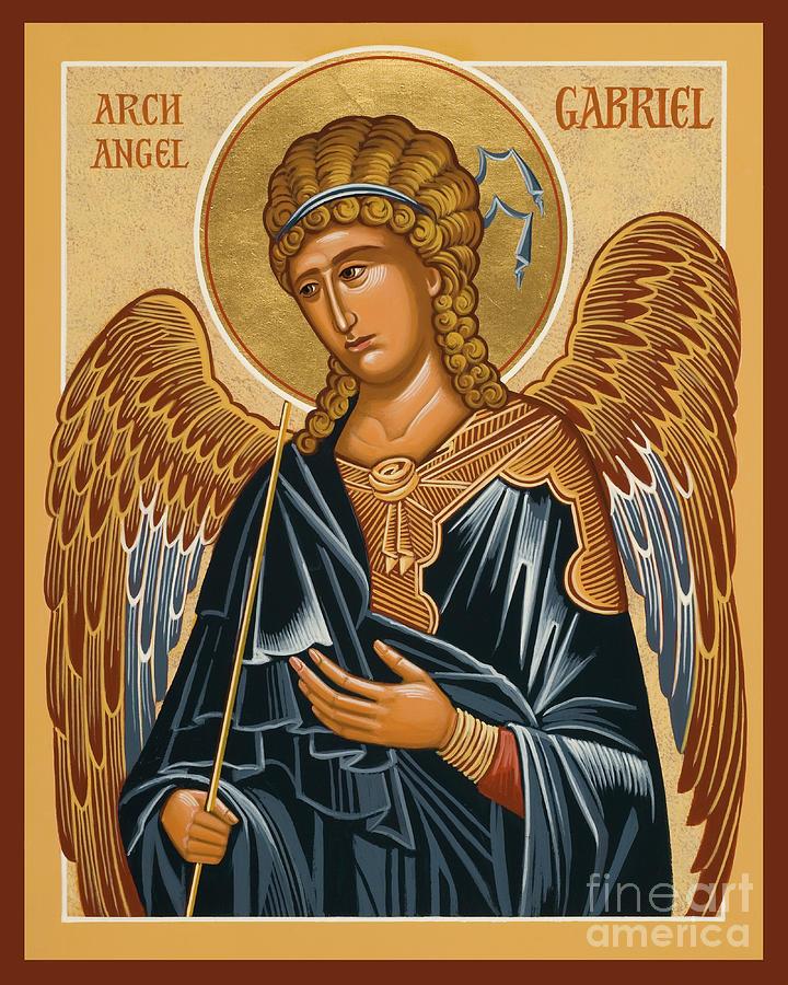 Saints Painting - St. Gabriel Archangel - Jcarb by Joan Cole