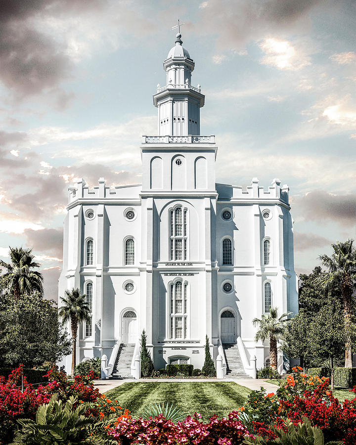 Saint Photograph - St George Temple - Tower Of The Lord by Brent Borup
