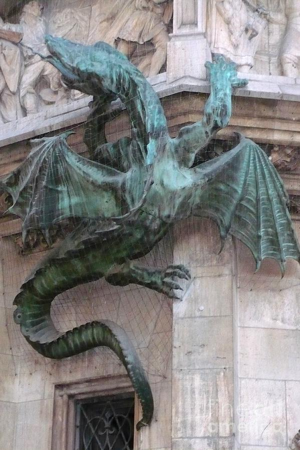 Dragon On Munich City Hall Photograph