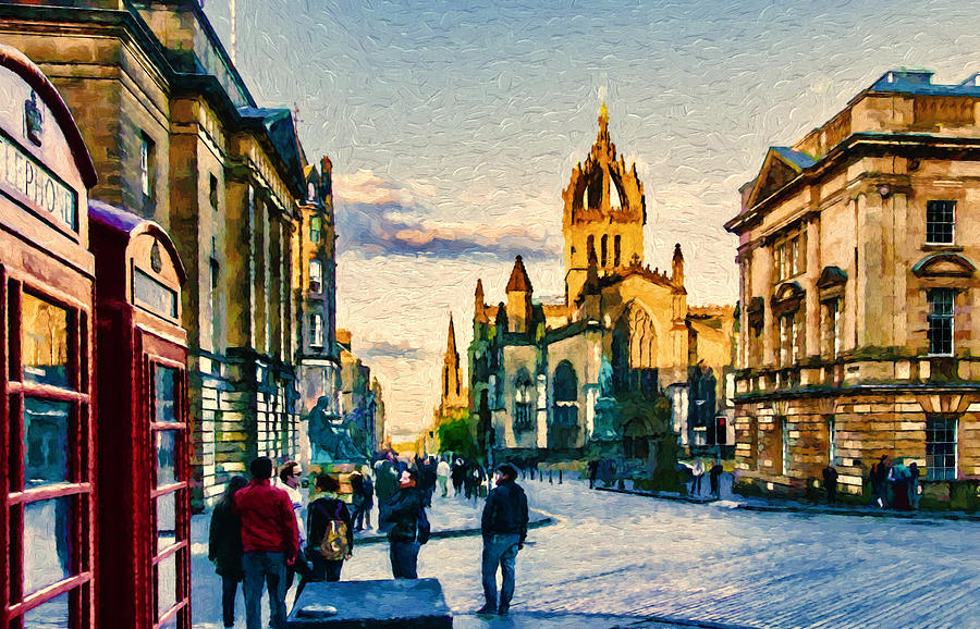 Church Photograph - St Giles Cathedral by John K Woodruff