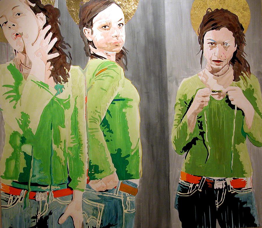Portrait Painting - St. Handan by Pete Nawara