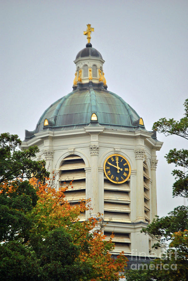 Clock Photograph - St Jacques Sur Coudenberg  by Jost Houk
