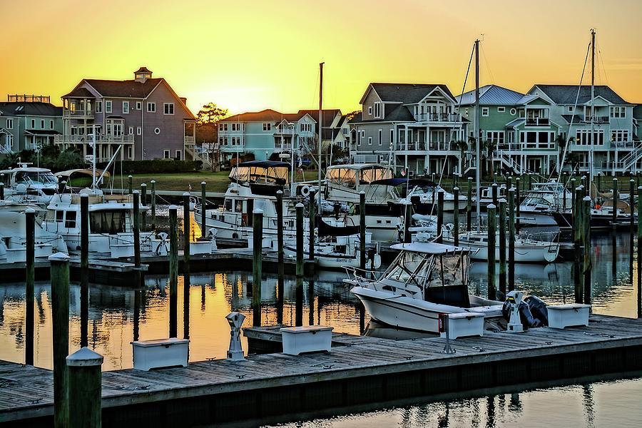 St. James Marina Sunset by Don Margulis