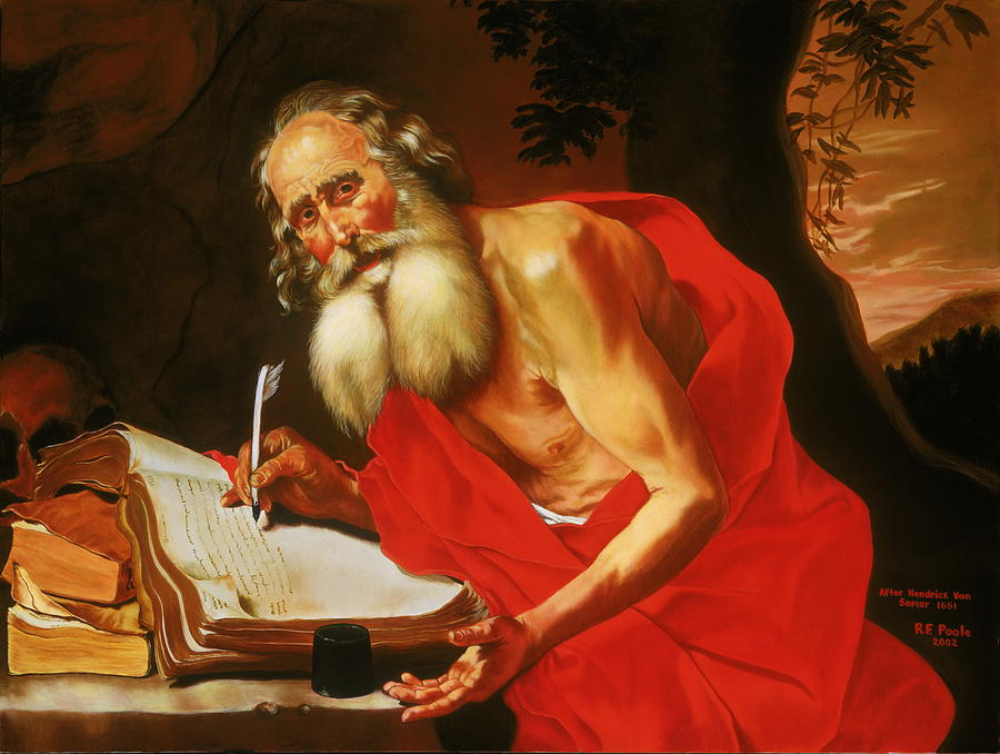 St. Jerome Painting - St. Jerome In The Wilderness by Rebecca Poole