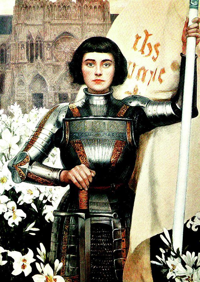 St Joan Of Arc Mixed Media - St Joan of Arc - Jeanne dArca by Albert Lynch
