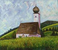Church Painting - St. Johann Church - Kitzbuhel by Glynnis Sorrentino