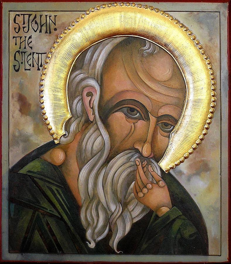 Egg Tempera Painting - St John by Mary jane Miller