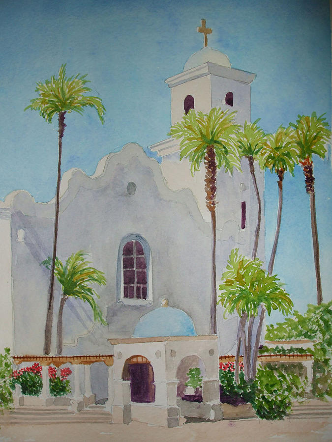 Church Painting - St John Of The Cross by Ally Benbrook
