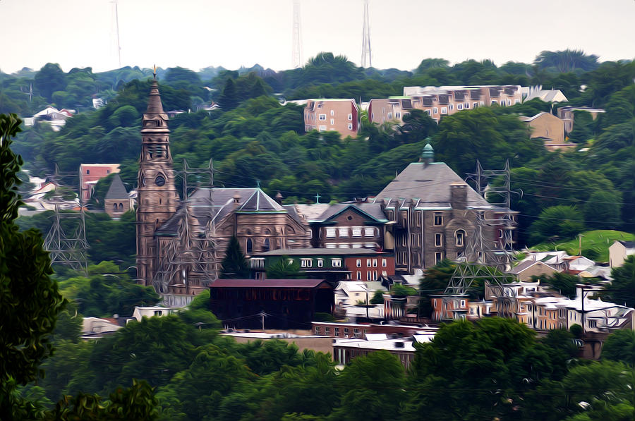 Catholic Photograph - St John The Baptist Church Manayunk Philadelphia by Bill Cannon