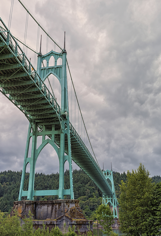 Bridges Photograph - St. Johns Bridge by Loree Johnson