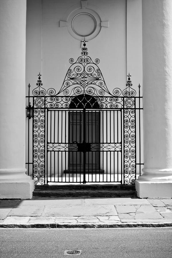 St. Johns Photograph - St Johns Lutheran Church Entrance by Dustin K Ryan