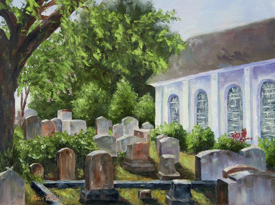 Rosie Painting - St Johns Parish Church by Rosie Phillips