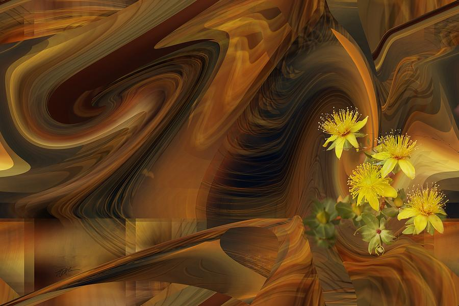 St John's Wort in an Abstract by rd Erickson