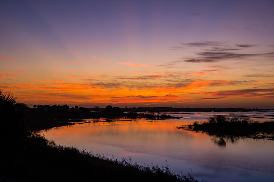 St. John's River Sunrise by Kenneth Blye