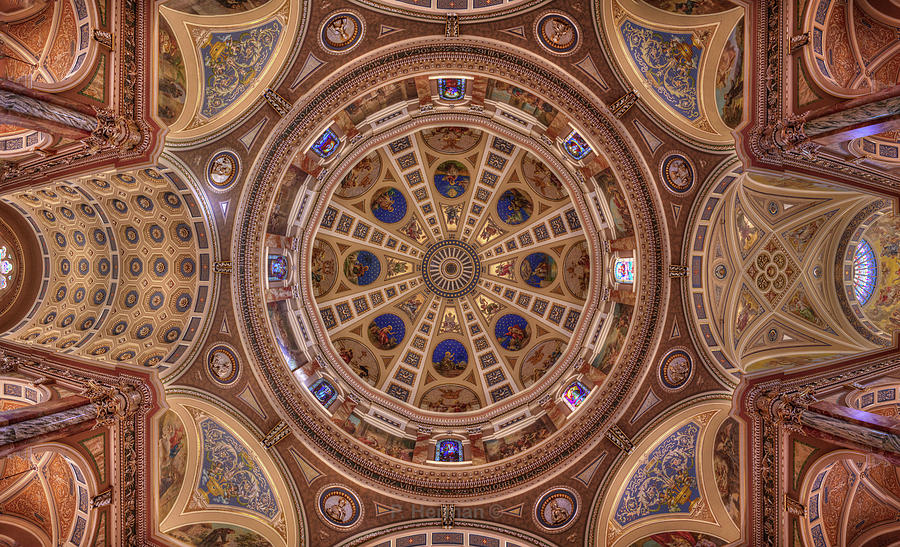St. Josaphat Basilica Ceiling Photograph by Peter Herman