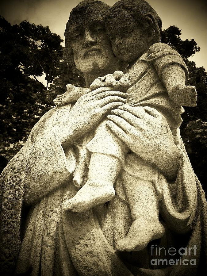 St Joseph Photograph - St Joseph And Child by Geraldine Liquidano