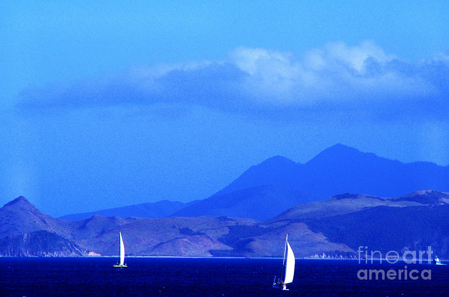 West Indies Photograph - St Kitts Sailboats by Thomas R Fletcher
