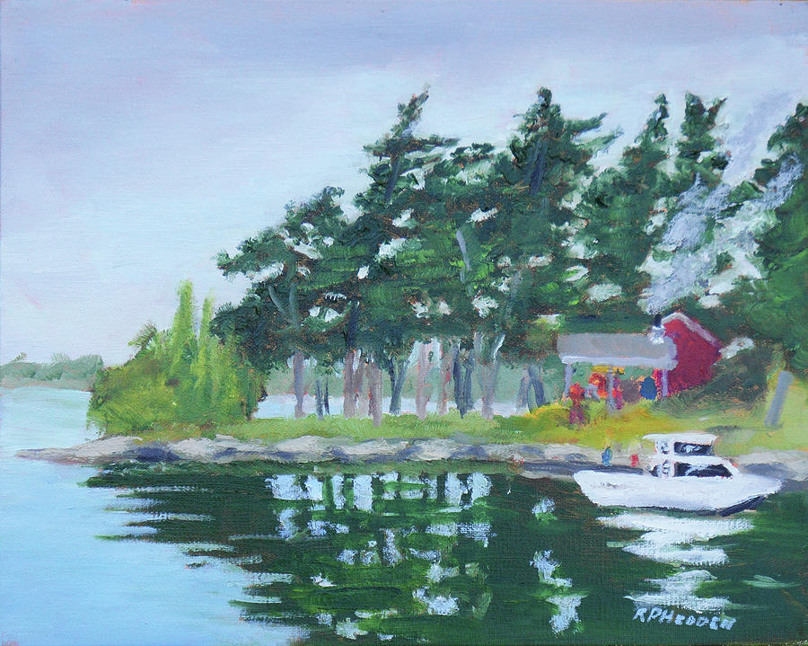 St Lawrence River Shore Dinner by Robert P Hedden