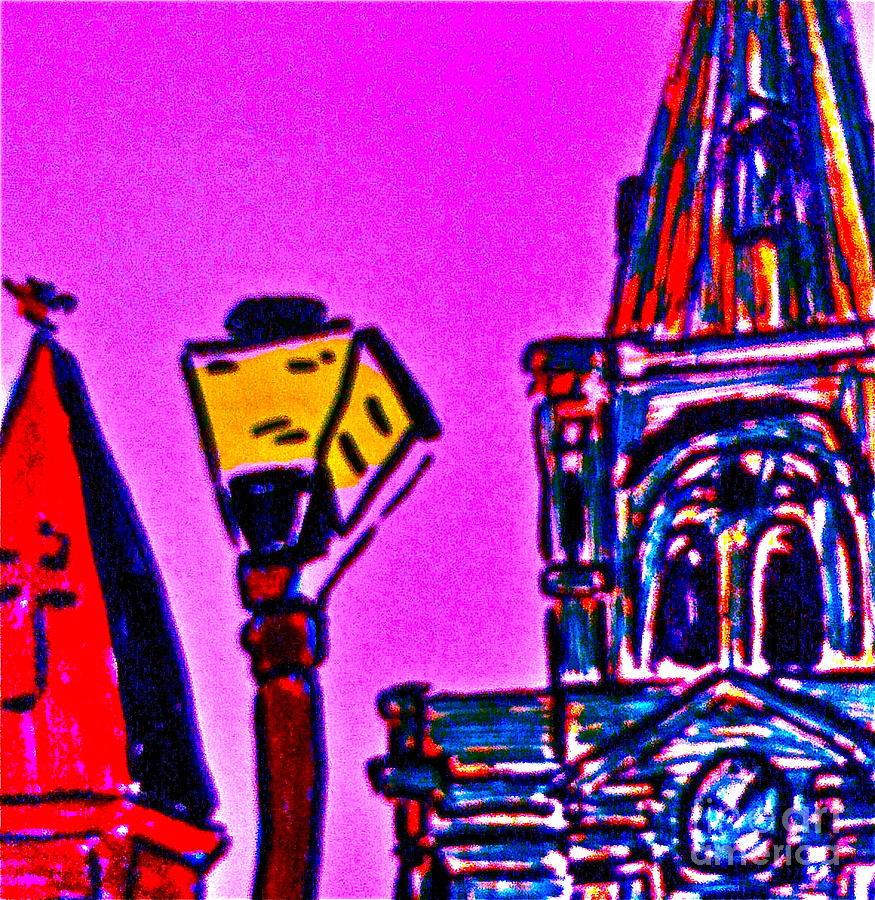 Nola Drawing - St. Louis Cathedral Abstract by John Giardina
