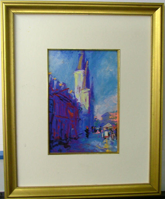 Cityscape Painting - St. Louis Cathedral by Joachim Casell
