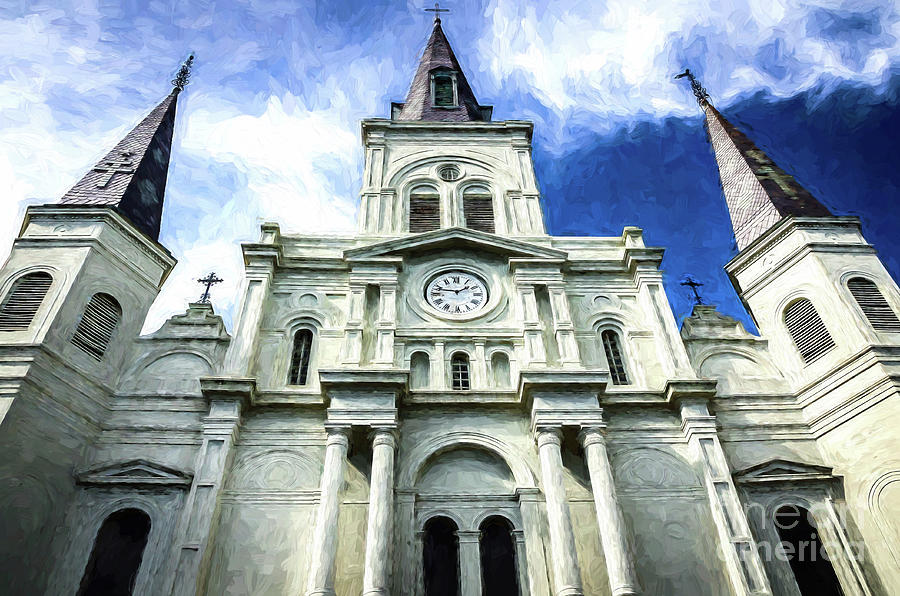 Church Photograph - St. Louis Cathedral - Nola- Art by Kathleen K Parker