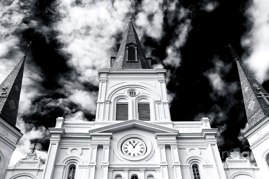 St. Louis Cathedral Photograph - St. Louis Cathedral View by John Rizzuto