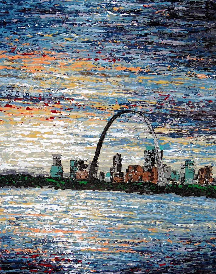 Original Painting - St Louis by Daniela Pasqualini
