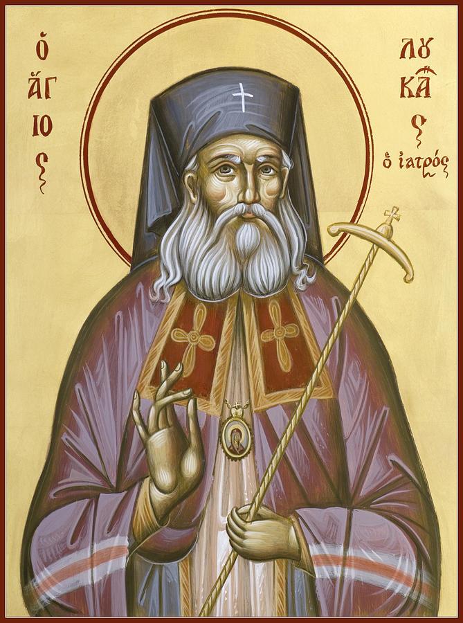 St Luke Of The Surgeon Painting - St Luke The Surgeon Of Simferopol by Julia Bridget Hayes