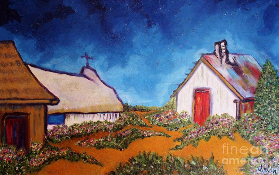 French Landscape Painting - St Maries by Chaline Ouellet