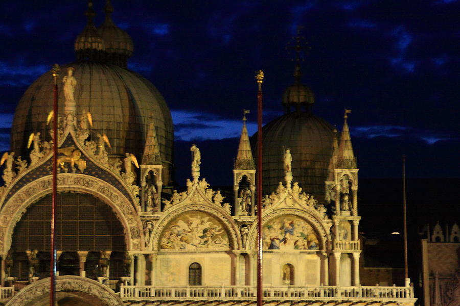 Venice Photograph - St. Marks Basilica at Sunrise by Michael Henderson